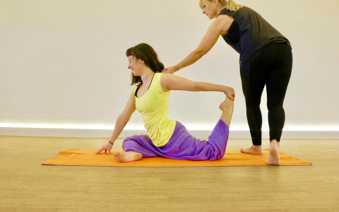 Hot Yoga practise.